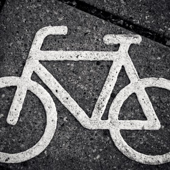 bike road marking